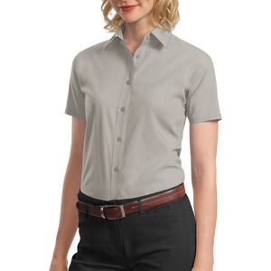 Ladies Short Sleeve Value Poplin Shirt Thumbnail