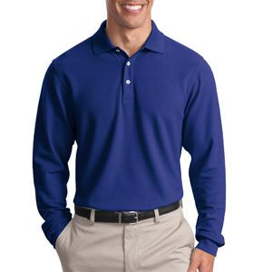 Long Sleeve EZCotton™ Pique Polo Thumbnail