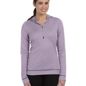 Ladies' Half-Zip Long-Sleeve Hoodie Thumbnail