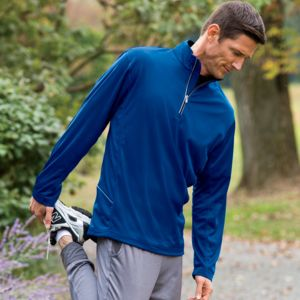 UltraClub® Men's Cool & Dry Sport 1/4-Zip Pullover Thumbnail