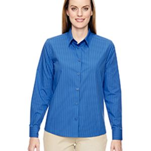 Ladies' Align Wrinkle-Resistant Cotton Blend Dobby Vertical Striped Shirt Thumbnail