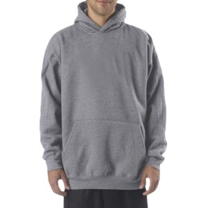 Adult Combed Ring-Spun Blended CVC Fleece Hooded Sweatshirt Thumbnail
