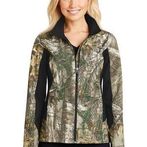 Ladies Camouflage Colorblock Soft Shell Thumbnail
