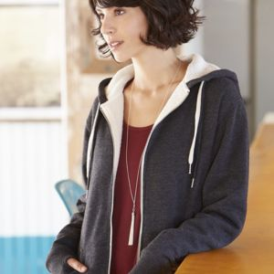 Unisex Sherpa-Lined Hooded Sweatshirt Thumbnail
